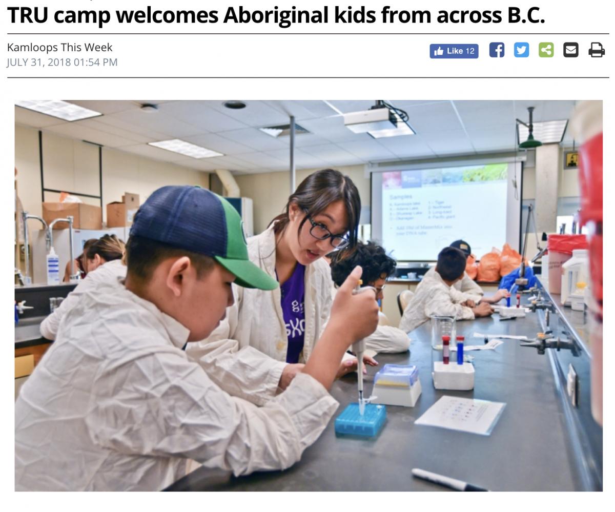 Aboriginal science and health science camp 2018