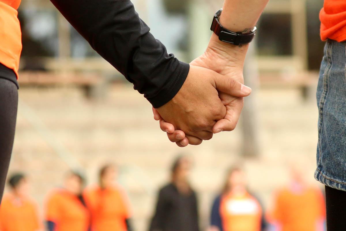 Orange Shirt Day 2018 holding hands