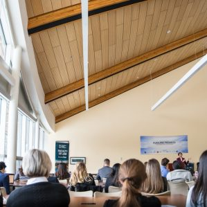 Kyla Lee talks at student law conference