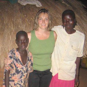 Dr. Bonnie Fournier, Associate Professor, Nursing, on an earlier research trip to Uganda.