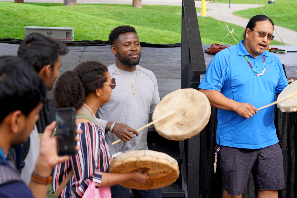 Indigenous drumming—international students orientation