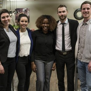 Winners of the 2019 Masters of Science in Environmental Science Showcase were, from left, Shannon Mendt, Paulina Ross, Aramide Taiwo, Adam Zelmer and Marcus Atkins.
