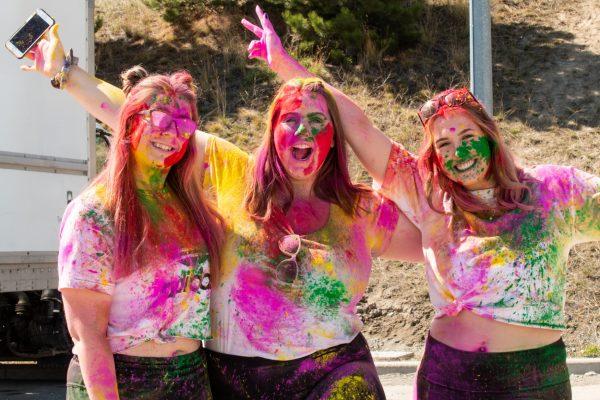 Holi celebration creates burst of colour on campus