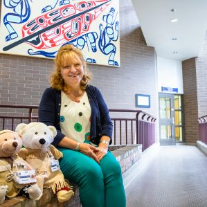 Sheila Blackstock with Spirt Bears