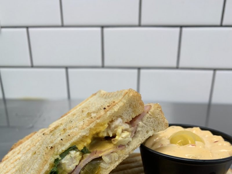 yummy sandwhich from the Workbench Cafe