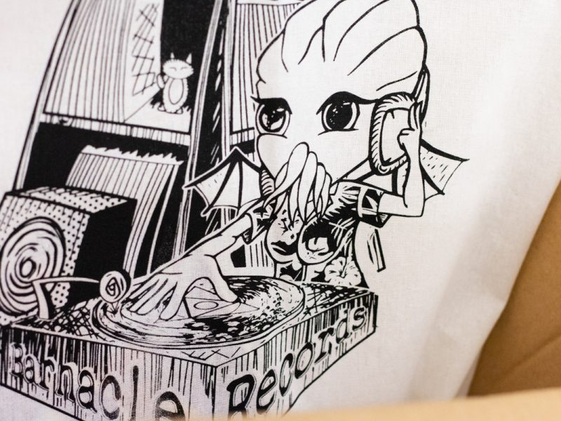 A logo for Barnacle Records made by a TRU visual arts student.