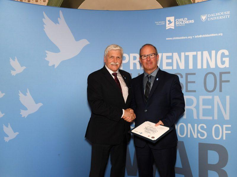 Brian Cassell and Retired General/Senator Roméo Dallaire