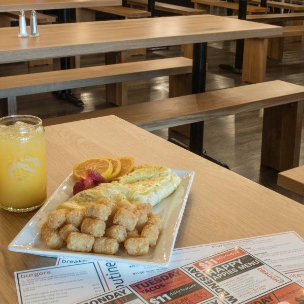 breakfast at The Den