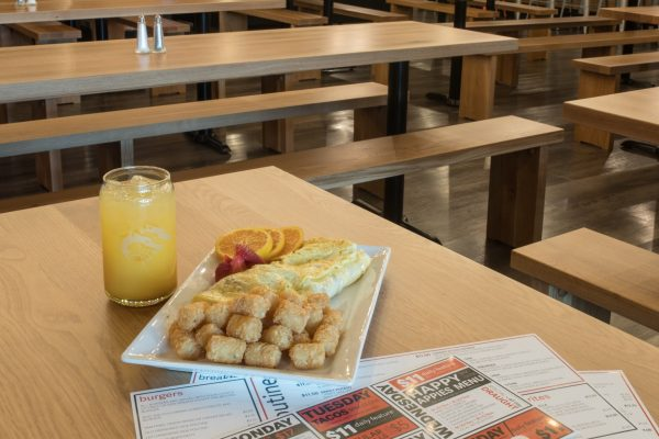 Start your day of with one of several breakfast options now available at The Den (Above and below) .