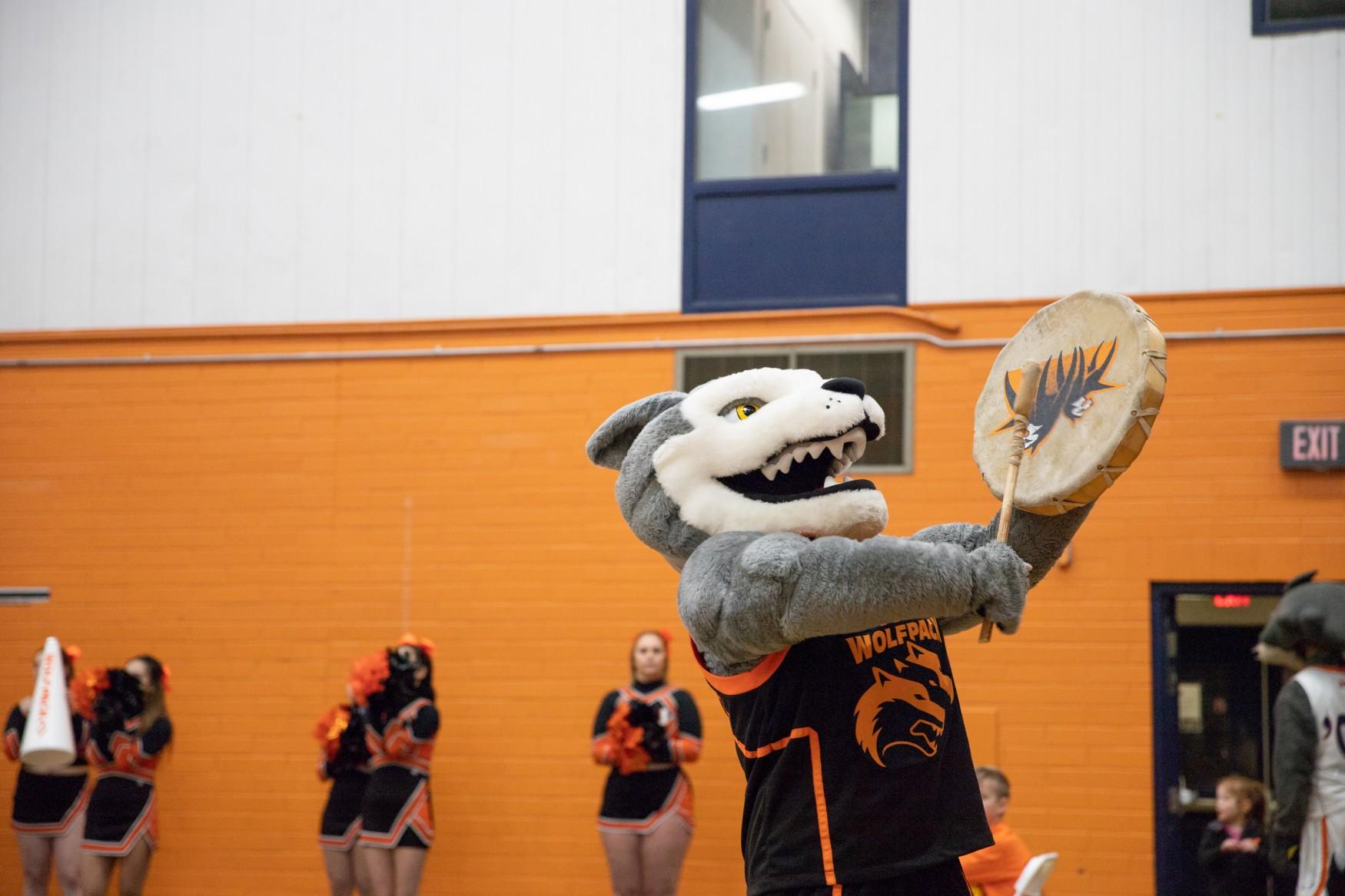 Wolfie mascot