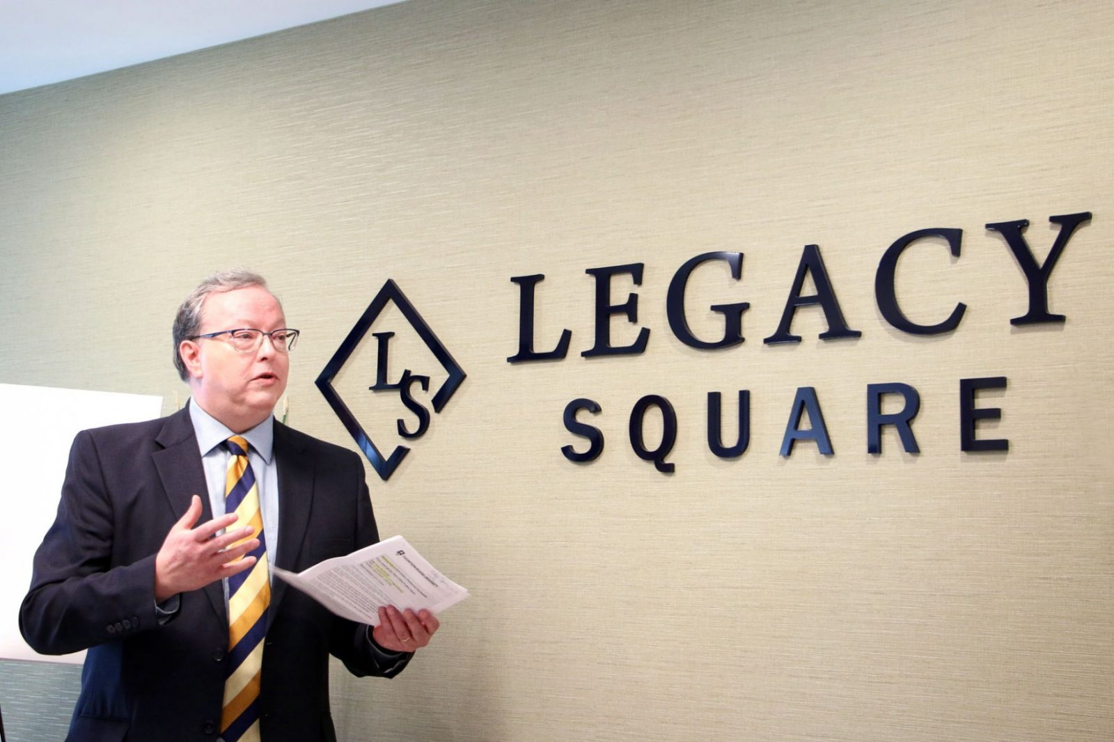 Legacy Square official opening Brett Fairbairn