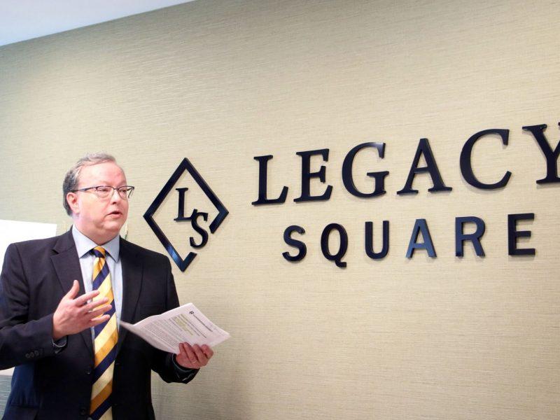 Legacy Square official opening Brett Fairbairn