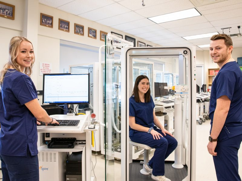 Respiratory therapy students