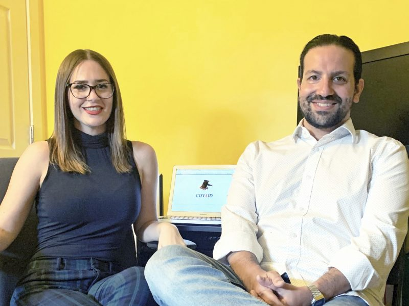 Sarah Ewart and Dave Barroqueiro were part of a TRU Law team that developed a series of apps to help people access COVID assistance programs.
