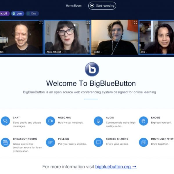visual of the BigBlueButton online space